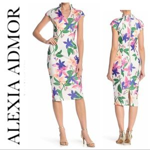 NEW ALEXIA ADMOR Scuba Sheath Sleeveless DRESS